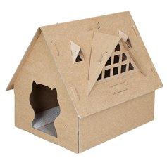 Kattenhuis karton 'de villa'