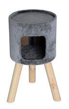 Krabpaal huisje op poten La Sol (licht grijs)