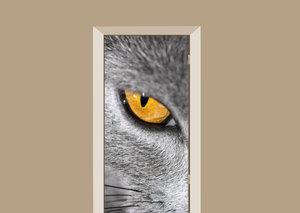 Deursticker katten oog