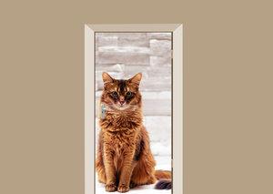Deursticker kat zittend