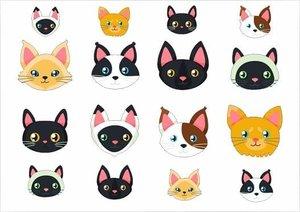 Fietsstickers kattenkopjes