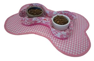 Voerbakjes houder Kitsch Kitchen paraiso roze