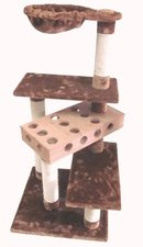 Krabpaal de speeltuin creme/bruin