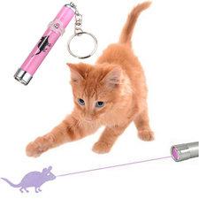 LED laser lampje blauw katten speelgoed