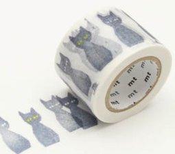 MT Masking tape kuro neko zwarte kat