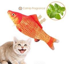 Catnip vis katten speelgoed (20cm) oranje