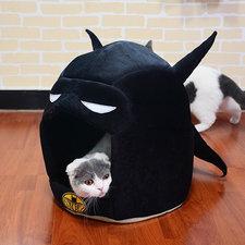 Kattenmand Bat House zwart