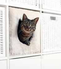 Kat huis voor Ikea Kallax kast beige