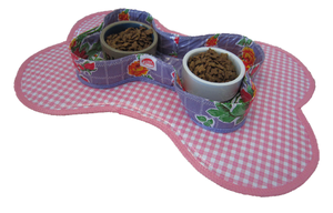 Voerbakjes houder Kitsch Kitchen rosedal lila