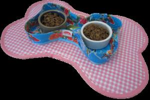 Voerbakjes houder Kitsch Kitchen vlinder lichtblauw