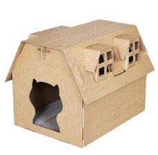 Kattenhuis karton 'de boerderij'