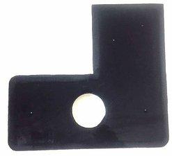 Krabpaal onderdelen: plank zwart met gat 77x71cm