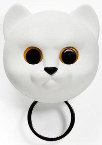Qualy Neko kat sleutelhouder wit