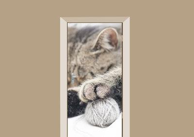 Deursticker kattenpootje