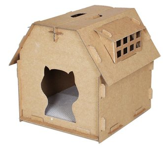 kattenhuisje karton kek doos