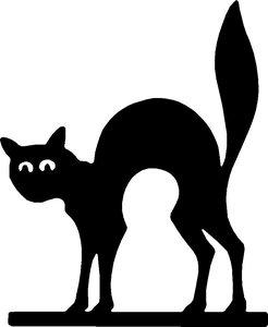Raamsticker kat div. kleuren