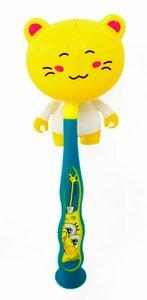 Tandenborstelhouder kat geel